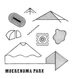 Abstract, symbol-laden work from designer Hirofumi Abe Amsterdam Museum, Illustrations, Illustration Art, Japanese Graphic Design, Logo Design Inspiration, Artist At Work, Poster Prints, Poster Poster, Signs