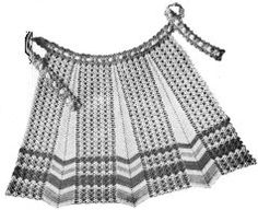 Grandmother's Pattern Book » Pretty in the Kitchen – knit or crochet an Apron – free patterns
