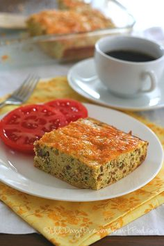 Low Carb Gluten-Free Zucchini Sausage Egg Breakfast Bake