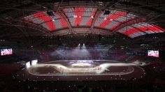 With 160 Christie Roadster HD20K-J and S+22K-J 3DLP projectors deployed for a projection mapping performance at the opening ceremony of the Southeast Asian sporting event at Singapore's new National Stadium on June 5, 2015