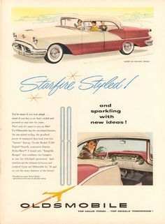 Oldsmobile Super 88 Holiday Sedan | Ad From April 2, 1956