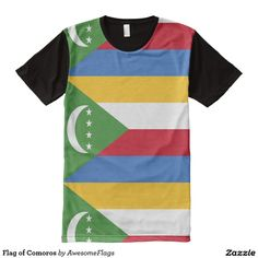Flag of Comoros All-Over Print T-Shirt