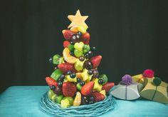 Árbol de navidad de fruta