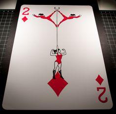 2 feet tall paper-cut playing card. The Sawdust deck. www.emmanueljose.com