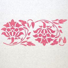 Wall Border stencils Pattern 011 Reusable by JboutiqueStencils