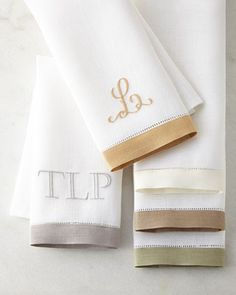 Two-Piece Guest Towel Set by SFERRA at Horchow.   #HORCHOWHOLIDAY14