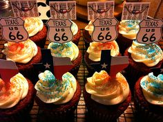 Don't Mess With Texas Cupcakes