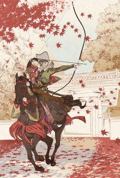 "Uguisumaru - Artist ""I want to do in the fall of the main enclosure in the horseback archery expression rare 4 sword. In each feel that prayer content is different"" Hot Anime Guys, Anime Love, Touken Ranbu, Haikyuu, Manga Anime, Anime Art, Manga Girl, Samurai, Bokuto Koutaro"