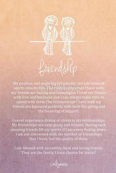 Affirmation - Friendship by CarlyMarie
