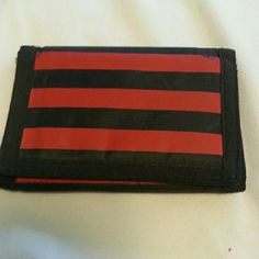 """Slim wallet Slight wear on back side and zipper. Made of sturdy synthetic """"canvas"""". Bags Wallets"""
