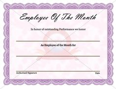 32 best employee award certificate templates images on pinterest
