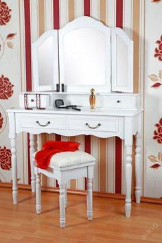 """xxl Velký toaletní stolek se stolici """"Vanessa"""