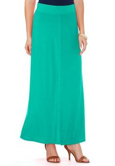 Seamed Front Maxi Skirt- Plus