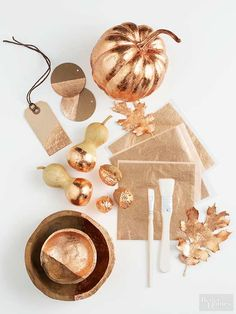 Bright but not blingy, warm but still cool, the liquid glow of copper is the metal of the moment. Here's how to use copper leaf for a DIY upgrade for your home accents.