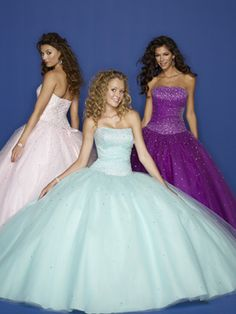Princess/Ball Gown Dress with Strapless Dropped Waist Prom Dress