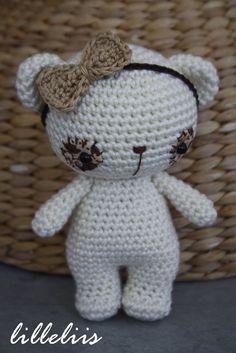 Matilda - tiny milk-bear, amigurumi teddy inaru