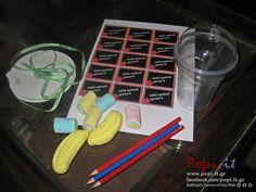 Δώρο για καλωσόρισμα της σχολικής χρονιάς με ξυλομπογιές και ζαχαρωτά   Popi-it