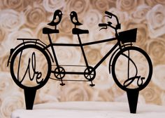 Wedding Cake Topper We Do with Bicycle for by CakeTopperConnection, $18.95