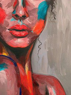 face Emotional art Impasto painting Abstract Portrait woman Modern Pallet knife Gift for friend - Colorful face Emotional painting Portrait woman girl Original Illustration Tutorial, Art Sketches, Art Drawings, Art Actuel, Art Sur Toile, Oil Pastel Art, Puzzle Art, Art Sketchbook, Portrait Art