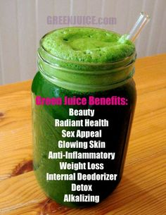 Beneficios green juice benefits. I'm definately going to have to get past the looks of this.