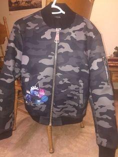 3.Paradis Neoprene Camo Bomber Jacket Brand New