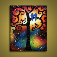 Bird Paintings Whimsical Tree by hjmart.deviantart.com on @deviantART