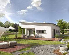 3D visualisation CH Bungalow pultdach