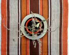 Swedish 1970s Orange Table-Runner or Hanging