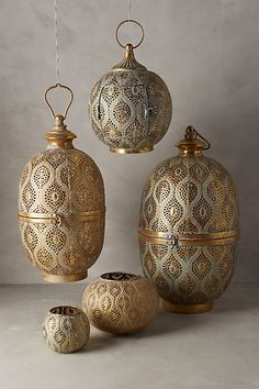 gorgeous metal lanterns #morocco