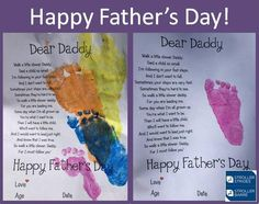 Father's Day is coming soon and we have a beautiful keepsake craft for your little one to make for her daddy. We will use washable, non-toxic paint to make your baby's footprint next to the beautiful poem below. Perfect for all ages and certain to be a big hit with daddy! For a copy of this template and many other wonderful footprint & handprint printable follow this link:https://missbolddesign.com.au/kids-and-painting-handprint-and-footprint-poem-printable-bonanza/