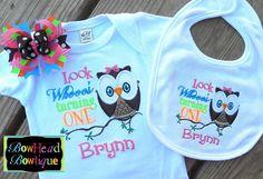 Look Whoo's Turning One Two Etc Owl Birthday by BowHeadBowtiqueInc, $42.00