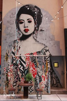 Hush street art at The Belt, Detroit   Duende by Madam ZoZo #streetart #urbanart #detroit #thebelt
