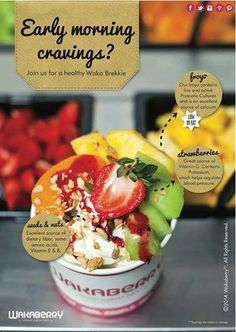 Do you have early morning cravings? Join us for a healthy Waka Brekkie. #wakaberrygeorge #caledonsquare