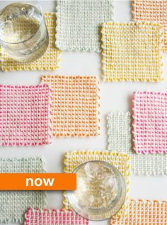 Then & Now: Loomed Coasters & Potholders