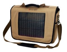 THE FUSION SOLAR MESSENGER BAG, CANVAS,  The messenger bag has pockets for your cell phone and PDA as well as a large cavity for a laptop computer.