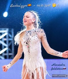 Alexandra SOLDATOVA (Russia) ~ On the end of the Gala @ Euskalgym 19/11/2017 ❤️ Photo by Andrey Sapizhak.