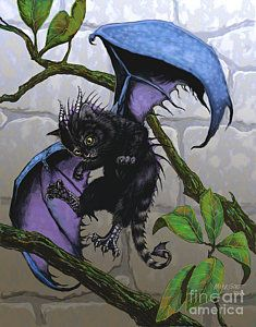 Fantasy Print featuring the digital art Catragon by Stanley Morrison Magical Creatures, Fantasy Creatures, Beautiful Creatures, Fantasy Kunst, Fantasy Art, Dragon Cat, Dragons, Dragon Pictures, Fantasy Dragon