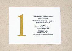 First Birthday Letterpress Invitations