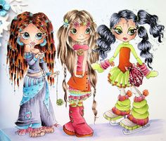 Copic Marker Europe: Krista's Flower Power Girls