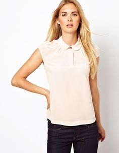 Image 1 of Ted Baker Woven Top with Peter Pan Collar