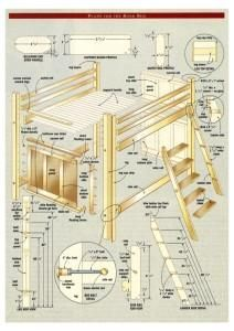 Build Your Own Bunk Bed Plans Girls Room Pinterest Bunk Beds