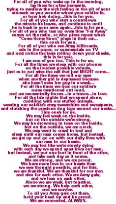 This is for you my Hooah sisters!