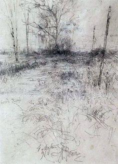 Репин И.Е. Пейзаж (1891)