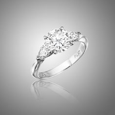 Awesome MIMI SO - Bridal, Engagement Rings - Traditional Three Stone Engagement Ring picture #Engagement #Rings
