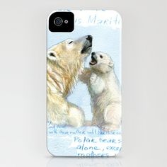 Polar bears A0086 iPhone Case by S-Schukina - $35.00