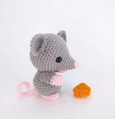 PATTERN: Maxwell the Mouse - Crochet mouse pattern - amigurumi mouse pattern - crocheted mouse pattern - PDF pattern - English Only Crochet Hook Sizes, Crochet Hooks, Amigurumi Patterns, Crochet Patterns, Crochet Mouse, Universal Yarn, Christmas Knitting Patterns, Paintbox Yarn, Red Heart Yarn