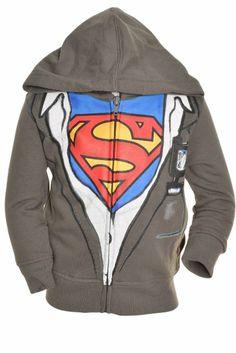 Amazon.com: DC Comics Boy's 2-7 'Superman' Novelty Zip-Up Hoodie 2T Gray: Clothing