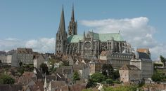 "Chartres Cathedral: ""Clad in a Garment of Gems"" - Europe Up Close Gothic Cathedral, Cathedral Church, Beautiful Inside And Out, France, Place Of Worship, Paris, Barcelona Cathedral, Places Ive Been, Scenery"