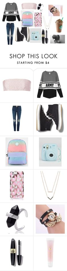 """photo that star"" by magconloma on Polyvore featuring Mary Katrantzou, Frame Denim, Keds, Vans, Kate Spade, Michael Kors, Max Factor, Lancôme, women's clothing and women's fashion"