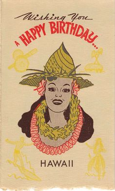 77 best hawaiian birthday greetings images on pinterest birthday wwii birthday card with hula girl image m4hsunfo
